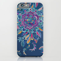 Deep Summer - Watercolor Floral Medallion iPhone & iPod Case by Micklyn