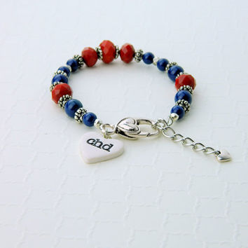 CHD awareness bracelet, CHD charms, CHD awareness, chd ribbon