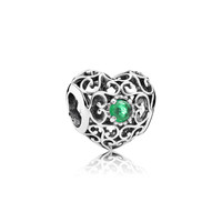PANDORA | May Signature Heart, Royal Green Crystal
