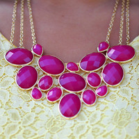 Beauty In Everything Necklace: Raspberry | Hope's