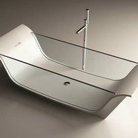 Corian® bathtub CHAISE LONGUE VITRE by MOMA Design by Archiplast