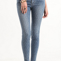 Bullhead High Waist Print Skinniest Jeans at PacSun.com