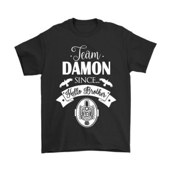 KUYOU Team Damon Since Hello Brother The Vampire Diaries Shirts
