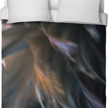 Charcoal Feathered Duvet Cover