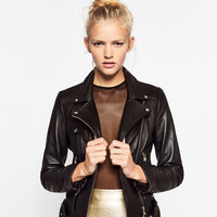 BASIC LEATHER JACKETDETAILS