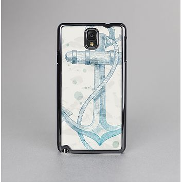 The Vintage White and Blue Anchor Illustration Skin-Sert Case for the Samsung Galaxy Note 3