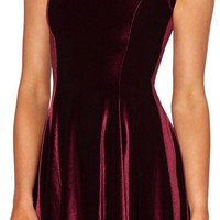 Design 3062 - Red velvet cocktail dress