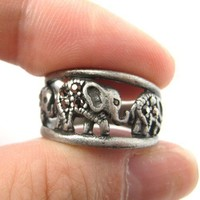 Elephant Animal Ring in Silver - Sizes 6 to 8 Available