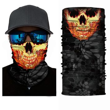 Camo Battle Snake Neck Warmer Nomad Seamless Scarf Riding Hiking Outdoor Sports Scarves Military Python Face Mask Headwear