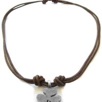 Lucky Clover Leather Necklace