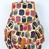 Owl Printed Backpack