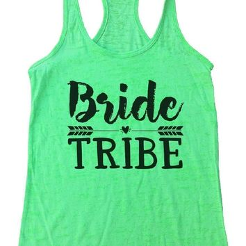 Bride Tribe Burnout Tank Top By Funny Threadz