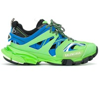 Ladies Green and Blue Track Sneakers by Balenciaga