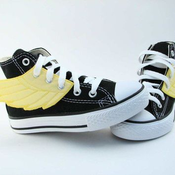 Superhero Shoes Yellow Wings by smallfly on Etsy