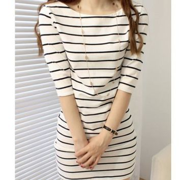 women striped dress 2016 female ladies summer fashion vetement femme vestidos roupa feminina robe boho tunique roupa dresses