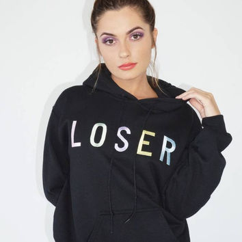LOSER Pastel Embroidered Hoodie