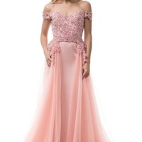 Sweetheart Neck Long Evening Dress