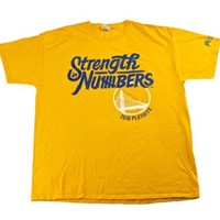 2016 Golden State Warriors Strength in Numbers Playoffs Promo Shirt Mens Size XL