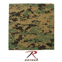 Woodland Digital Camo Bandana 27'' X 27''