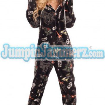 Star Wars Pajamas Footie PJs Onesuits One Piece Adult Pajamas