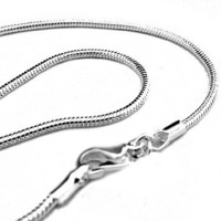 "20"" 2mm Silver Plated Snake Chain Necklace - Italian Style Shimmering High Polish 