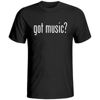 Novelty Print Got Music T Shirt for Guitar Piano Drum Violin Band T-Shirt for Mens