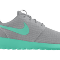 Nike Roshe Run iD Custom Girls' Shoes 3.5y-6y - Grey