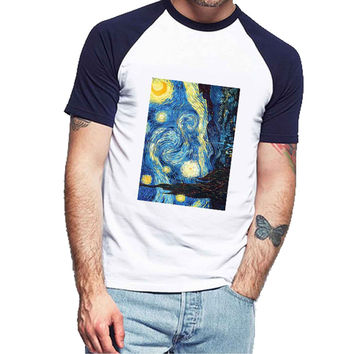 Starry Night Van Gogh original b05ac624-10a9-4d91-b83b-b0f0966a45d7 For Man Raglan and Woman Raglan XS / S / M / L / XL / 2XL *NP*