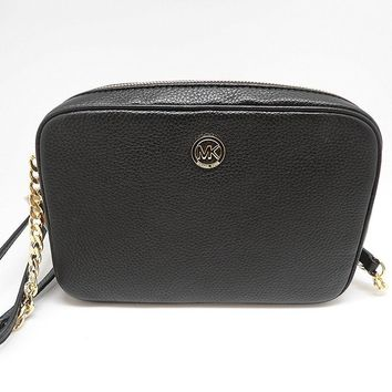 MICHAEL Michael Kors Fulton Large East West Leather Crossbody Bag in Black