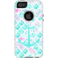 Faux Glitter Mermaids and Anchors  - Otterbox Commuter iPhone Case