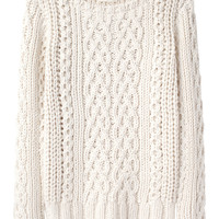 Boy by Band of Outsiders / Chunky Cable Pullover  |   La Garçonne