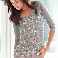 Sequin Raglan Top - Victoria's Secret
