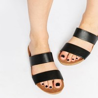 ASOS | ASOS FENDALL Footbed Leather Sliders at ASOS