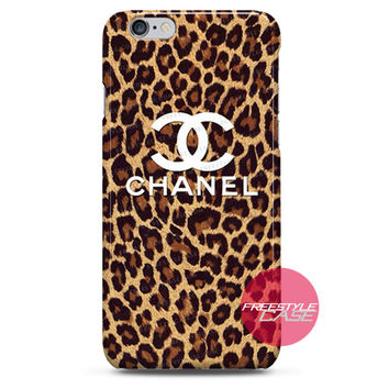 Leopard Print Chanel iPhone Case 3, 4, 5, 6 Cover