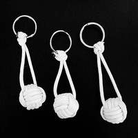 Paracord Volleyball / Monkey Fist Keychain