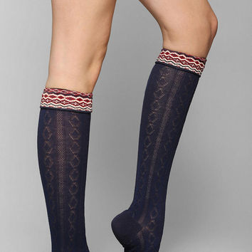 Fair Isle-Cuff Knee-High Sock - Urban Outfitters