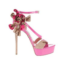 Gianmarco Lorenzi Pink Colorful Sandals
