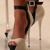 Fashion spell color super-high heels