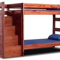 Hemet Twin over Twin Stairway Bunk Bed