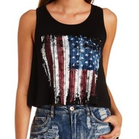 OPEN BACK AMERICANA GRAPHIC SWING CROP TOP
