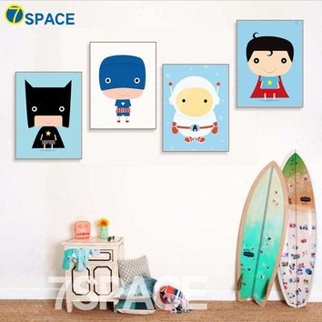 Batman Dark Knight gift Christmas Cartoon Superhero Batman Superman Wall Art Canvas Painting Nordic Posters And Prints Canvas Poster Wall Pictures Kids Room Decor AT_71_6