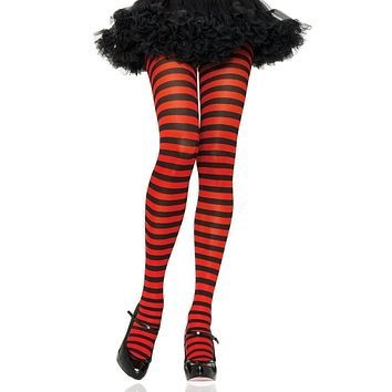 Hear My Voice Horizontal Stripe Pattern Tights Stockings Hosiery - 13 Colors Available