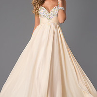 Long Sweetheart Formal Gown by Nina Canacci