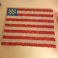 American Flag Canvas with Rhinestones