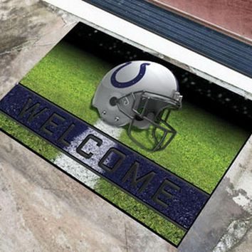 FANMATS Indianapolis Colts Crumb Rubber Welcome Door Mat