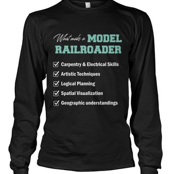 What make a model railroader shirt