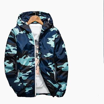 Spring Autumn Winter Camouflage Hood Padded Quilted Men Jacket Cotton Coat Warm Male Jackets Parka Hooded Casual Wadded