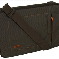 STM dp-2141-2 Jacket Small Sleeve, Fits Most 13-Inch Screens- Chocolate/Orange