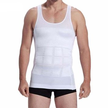 Men's Body Shaper Slimming Vest Abdomen Compression Vest Shirt Slimmer Underwear