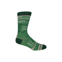 Golf Strategy Crew Socks in Green